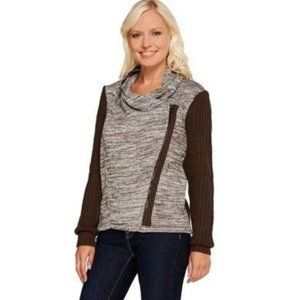 Lisa Rinna Collection Zip Front Sweater Size Large